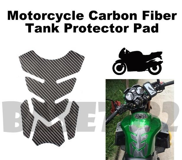 BLACK Motorcycle  Bike Gas Fuel Petrol Tank Protector Protection Pad