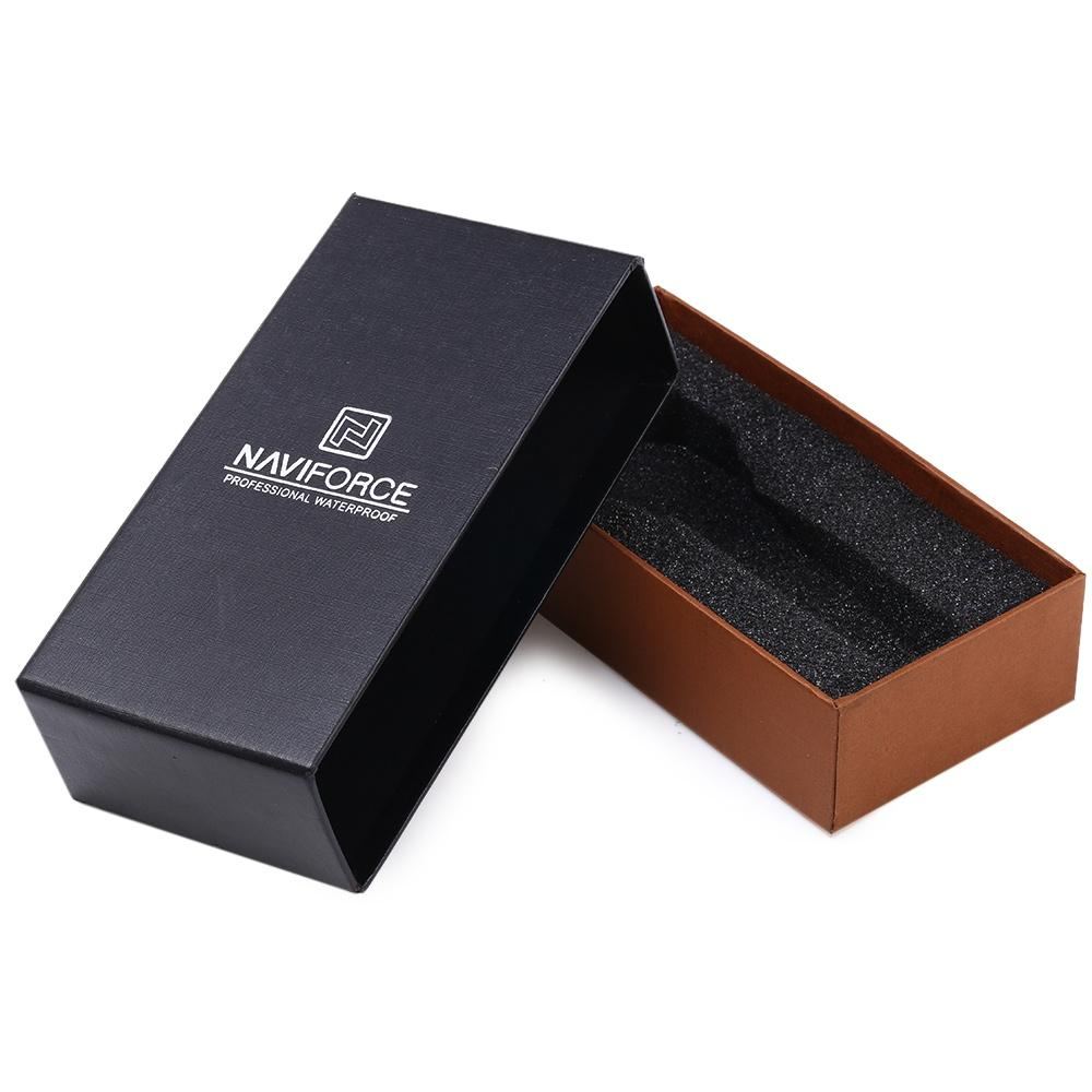 BLACK Naviforce Watch Box Paper Material Rings Bracelets Case