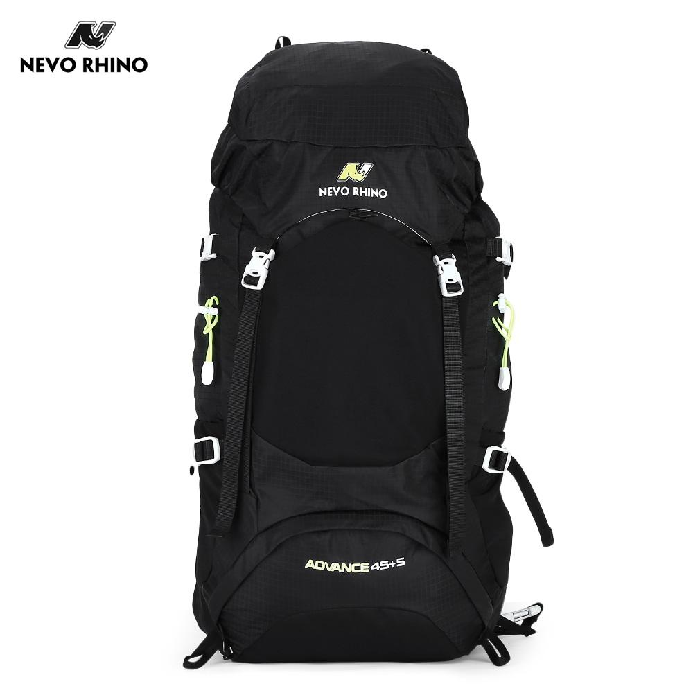 BLACK NEVO RHINO 60L Lightweight Outdoor Climbing Hiking Sports Backpa..