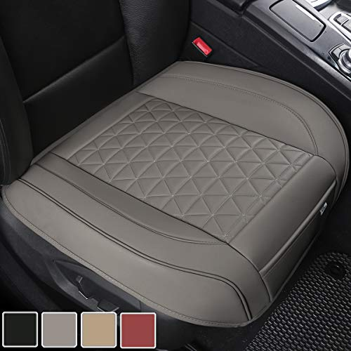 Black Panther Luxury PU Leather Car Seat Cover Protector for Front Seat Bottom
