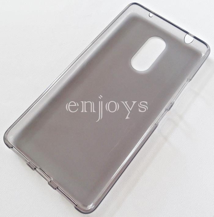 BLACK Soft Jacket Silicon Plain TPU Jelly Case Lenovo K6 Note |5 5'