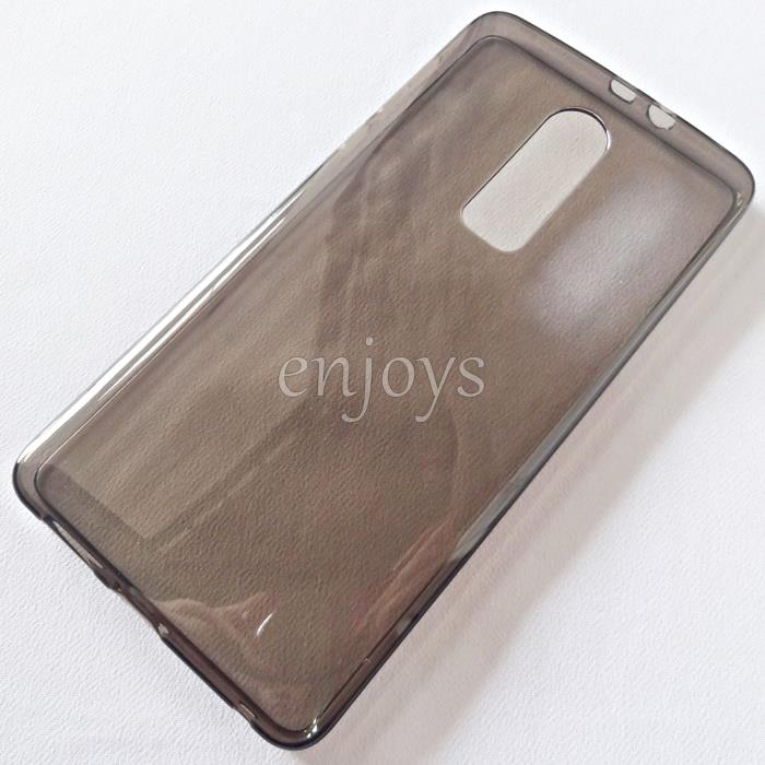 BLACK Soft Jacket Silicon Plain TPU Jelly Case for Sharp Z2 (5.5)