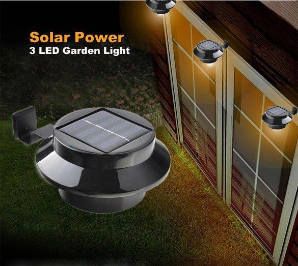 Black Solar Power Panel 3 Led Fence End 10 14 2019 4 15 Pm