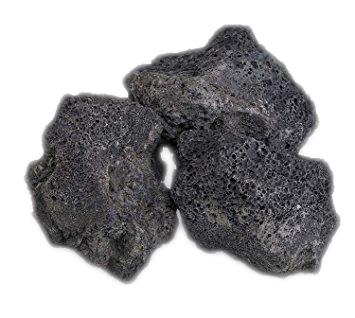 Black Volcanic Lava Rock 1kg Aquascape Aquarium Stone Nature Mountain