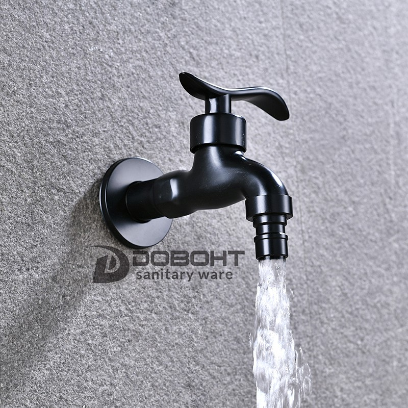 Black Washing Machine Bathroom Tap Tp001-bl