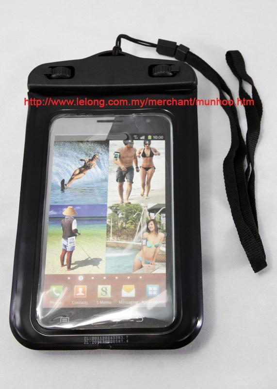 Black Waterproof Swim case bag Samsung Galaxy S6 S5 S4 S3 S2