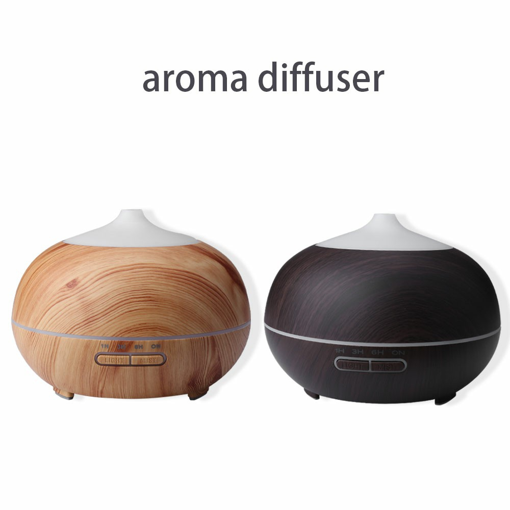 Black Wood Ultrasonic Aroma diffuser 500ml with 2 Essential oil 15ml of Own Ch