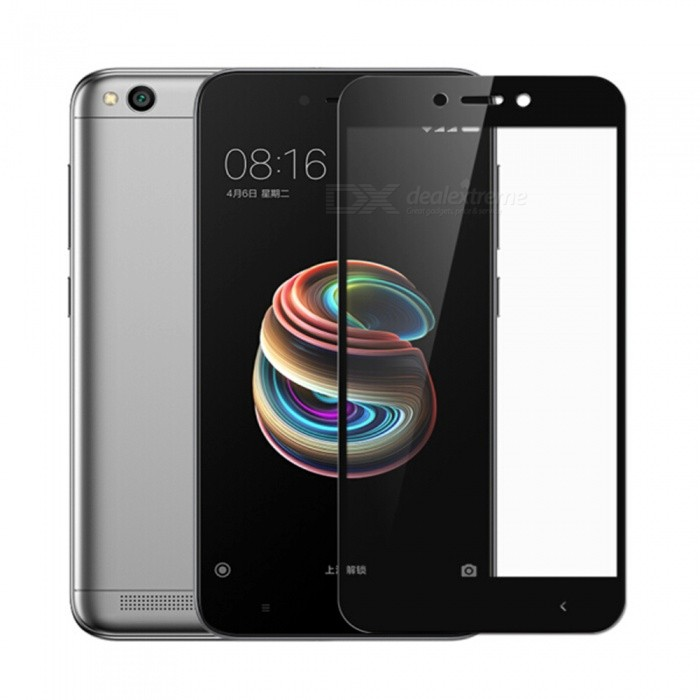 quality design ce28e 43965 ( BLACK ) XIAOMI REDMI 5A Full Cover Colour Clear Tempered Glass Scree
