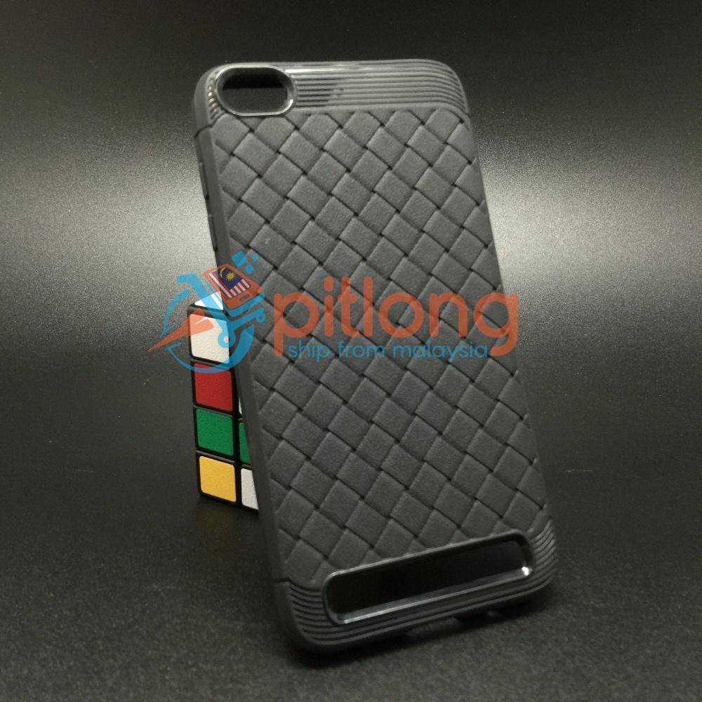 competitive price 77160 c2daa ( Black ) Xiaomi Redmi 5a Weave Pattern Soft Tpu Case