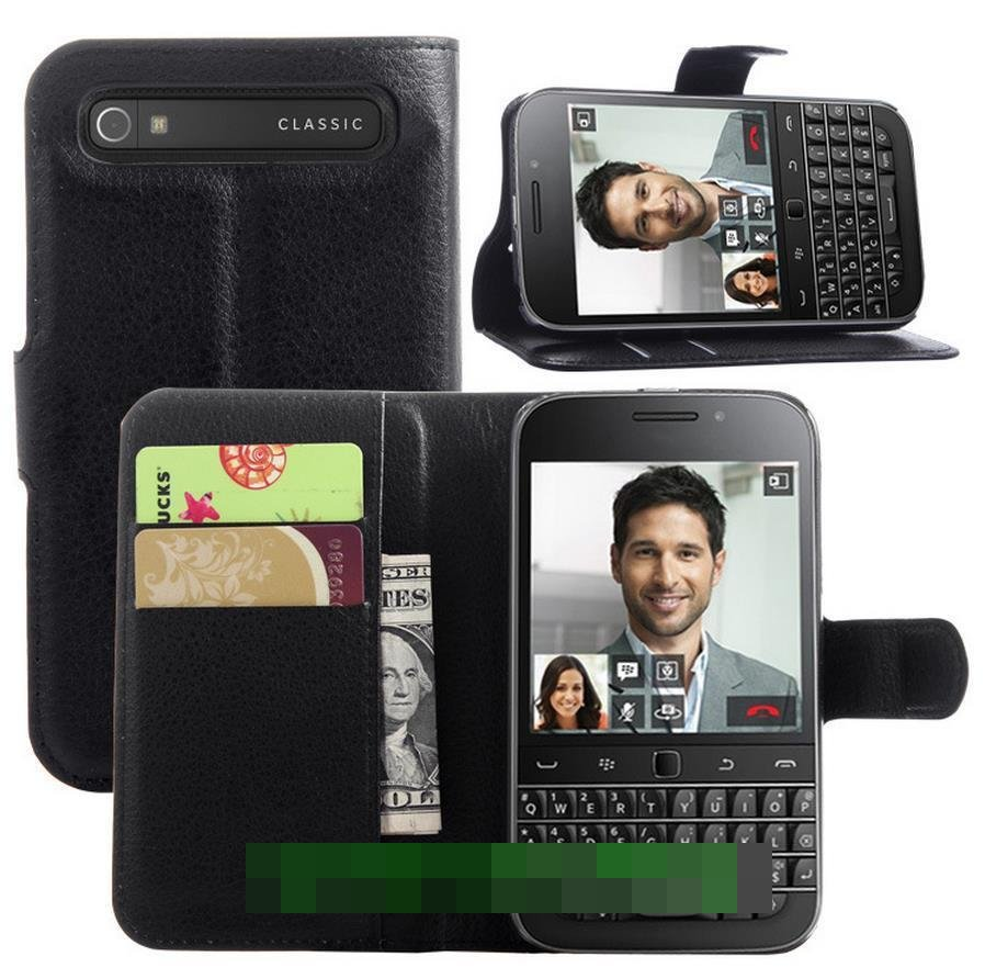 BlackBerry Classic Q20 Flip PU Leather Stand Armor Case Cover Casing