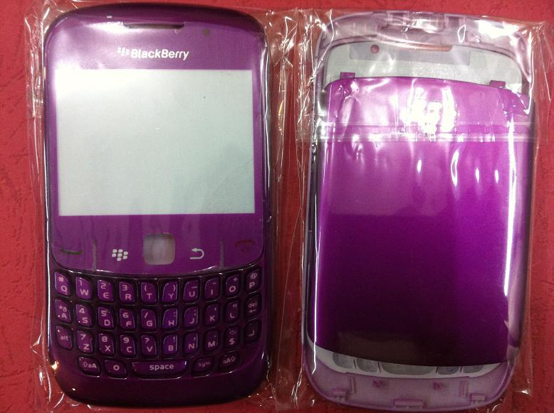 BLACKBERRY CURVE 8520 FLOWER LIGHT PURPLE HOUSING