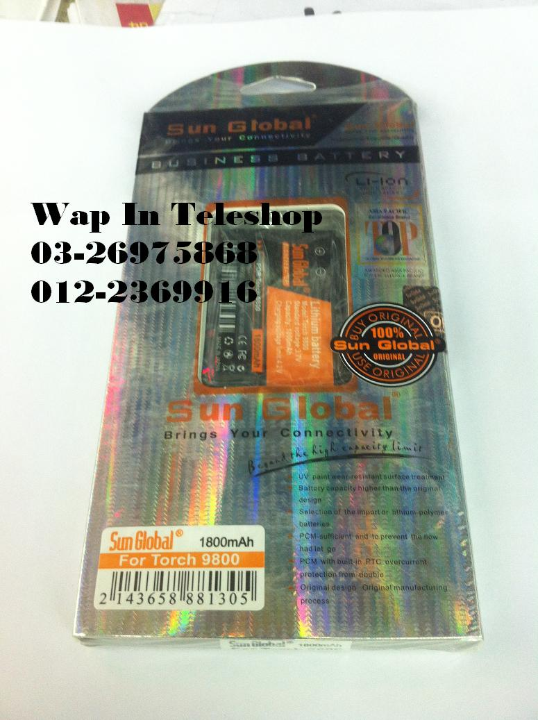 BlackBerry Torch 9800 9810 Sun Global Extended high Capacity Battery