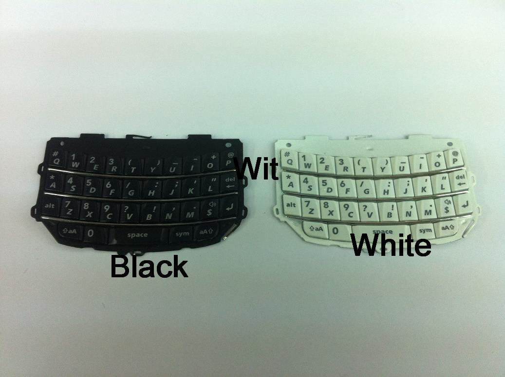 BlackBerry Torch 9800 9810 White / Black QWERTY Button Keypad Repair