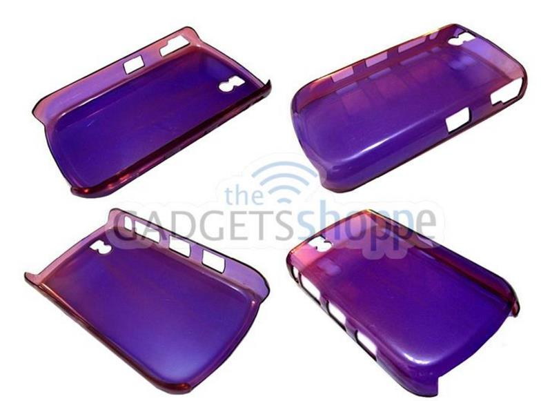 BLACKBERRY TOUR 9630 TRANSPARENT PURPLE PLASTIC CASE