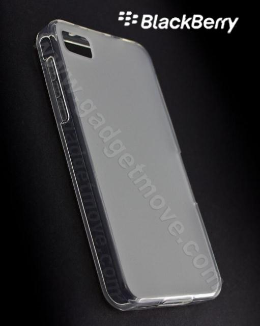 Blackberry Z10 Back Cover Clear SGP TPU Jelly Frosted Back Case