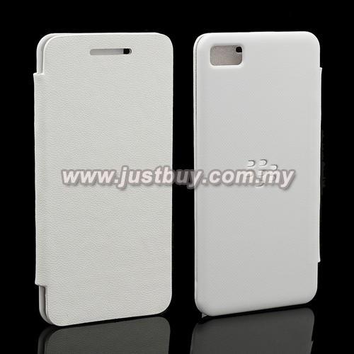 more photos d0eca f259b BlackBerry Z10 Flip Cover - White