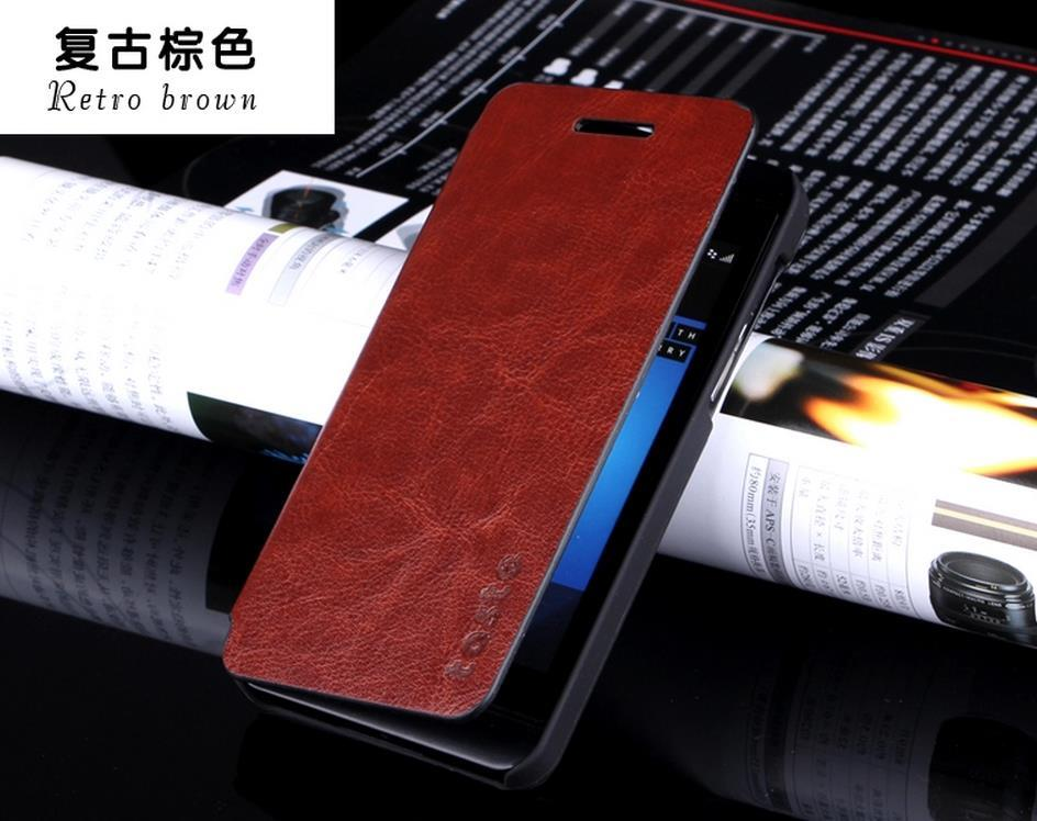 Blackberry Z10 PU Leather Flip Case Cover + Free Screen Protector