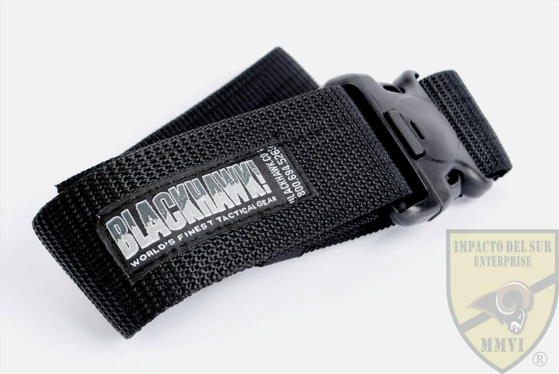 BLACKHAWK ENHANCED MILITARY WEB BELT (BLACK)