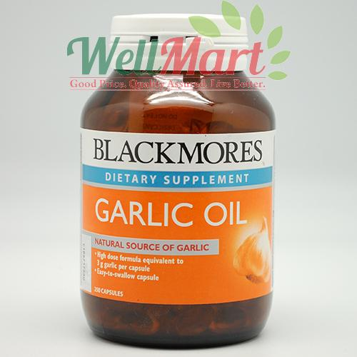 BLACKMORES GARLIC OIL 250'S