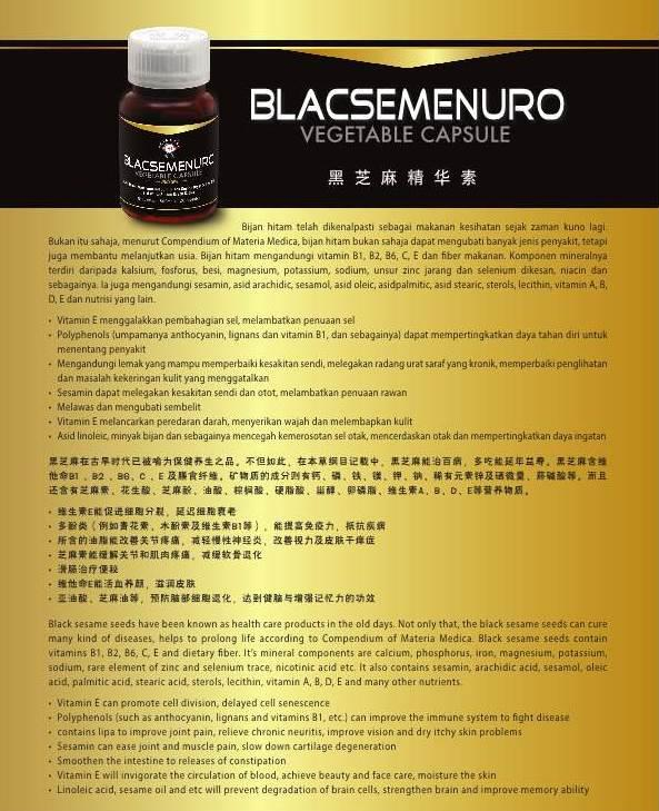 Blacsemenuro Vegetable Capsule 500mg