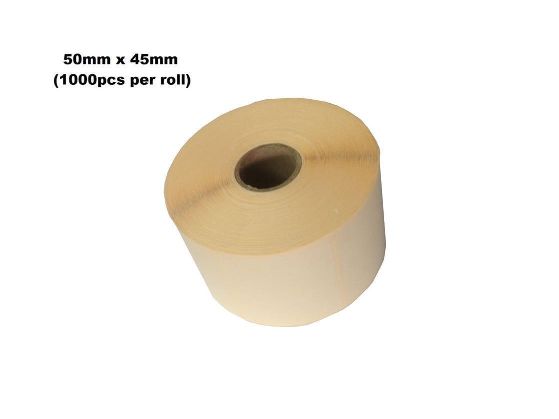 Blank Barcode Label Sticker 50mm x 45mm (1000pcs) 30rolls