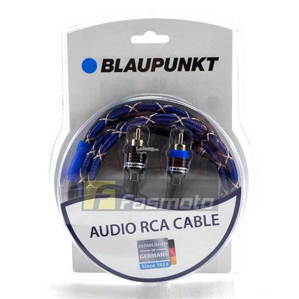 Blaupunkt RC2-50S 2 Channel RCA Audio Cable 5M (16.4 ft) Oxygen Full C