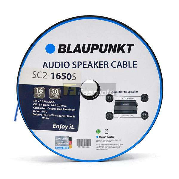BLAUPUNKT SC2-1650S Speaker Wires 16 Gauge White and Blue - Per Meter
