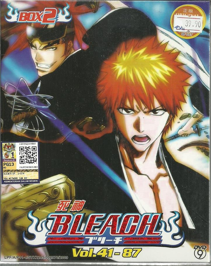 BLEACH (BOX 2)  - ANIME TV SERIES DVD BOX SET (41-87 EPIS)