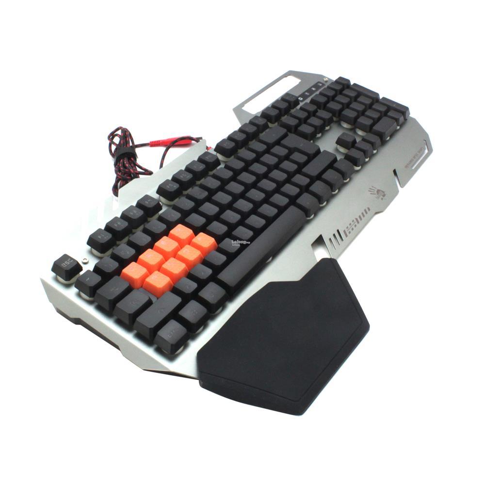 ff9982fd2bf Bloody B418 Light Strike 8-Infrared Switch Gaming Keyboard (Silver)