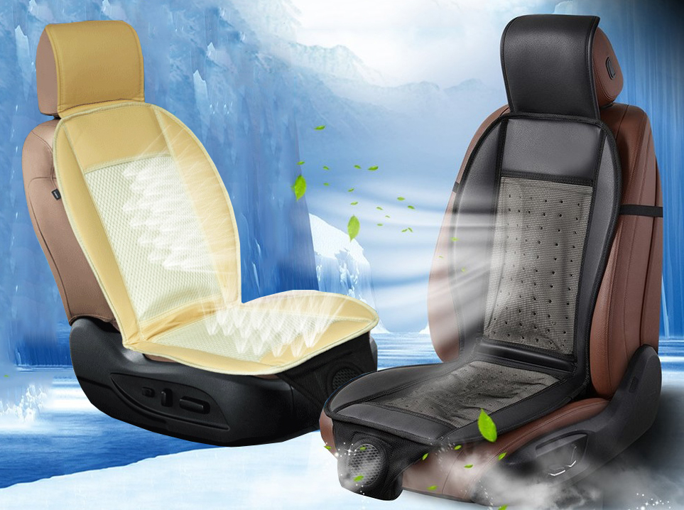 Blow Air Conditioning Car Wind Seat Cover Summer Cushion Pad Cool