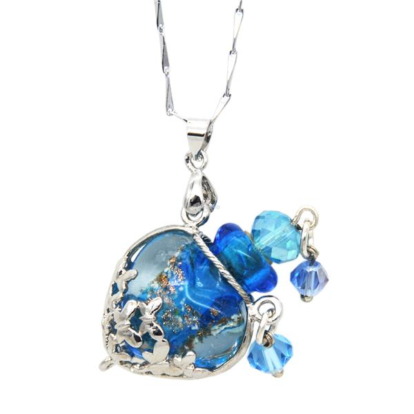 Blu Scents Minty Mind with Sky Blue Love Aroma Necklace