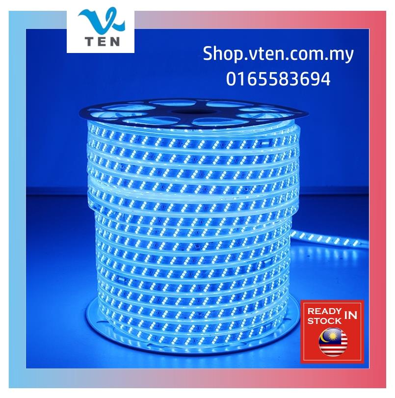 Blue Color Triple Row 3 Row 240V Waterproof LED Strip Outdoor 20M