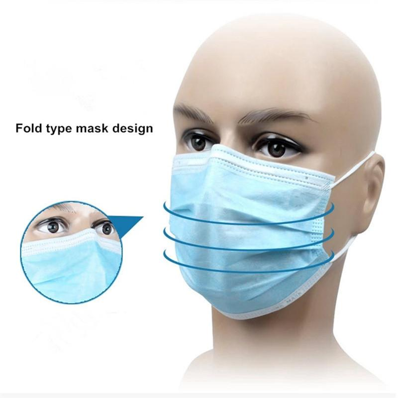Layer Disposable Boxes Medical Dustproof 3 5 Face Mask Blue Surgical