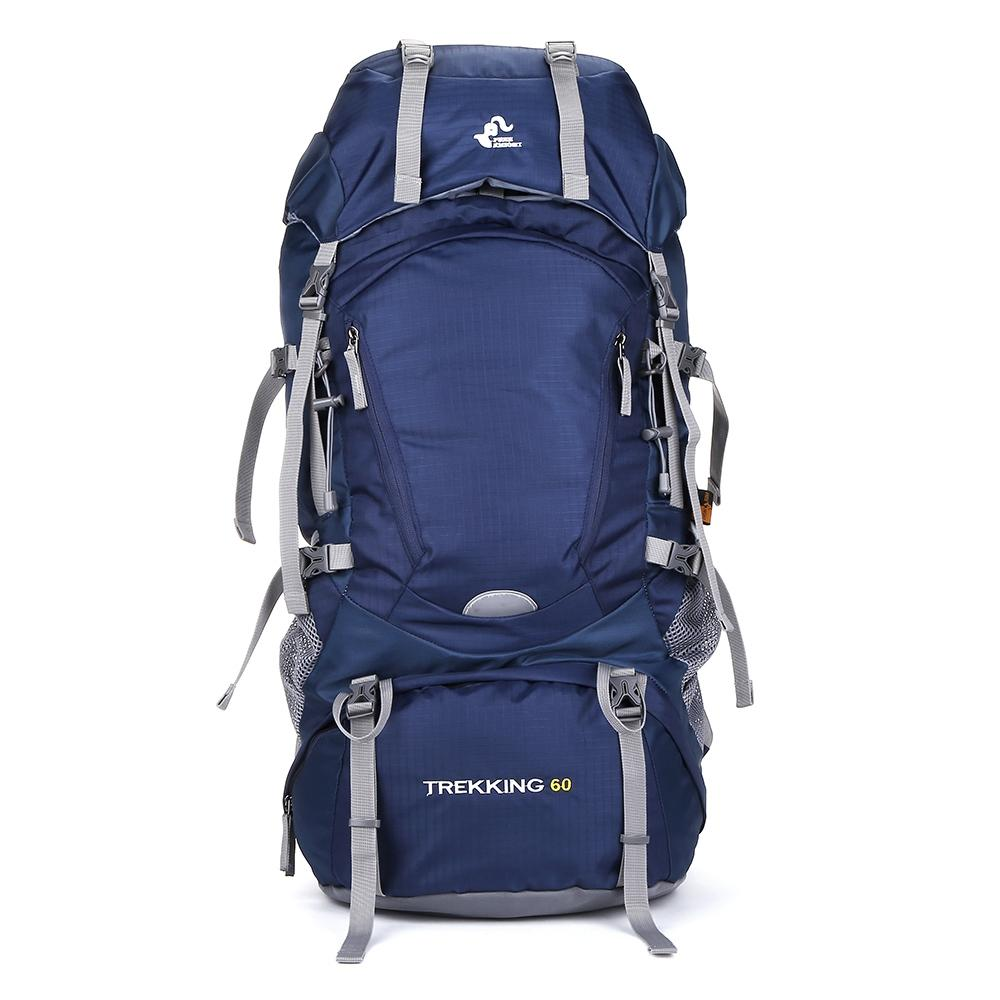 BLUE Free Knight 60L Lightweight Climbing Hiking Travel Backpack with ..