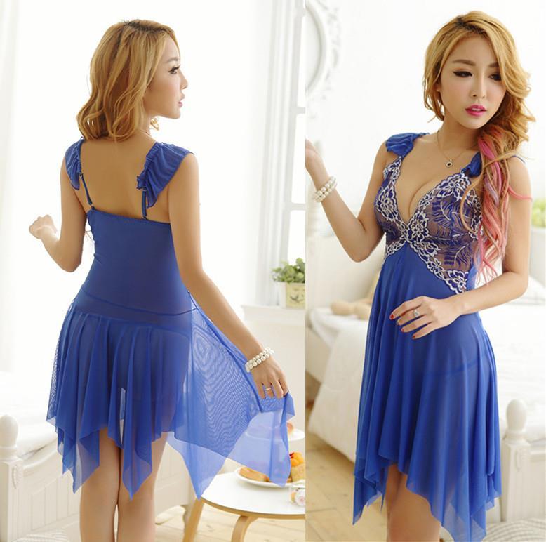 f89188b5ece84 Blue Lace Babydoll Dress + G-string S (end 1 5 2020 3 15 PM)