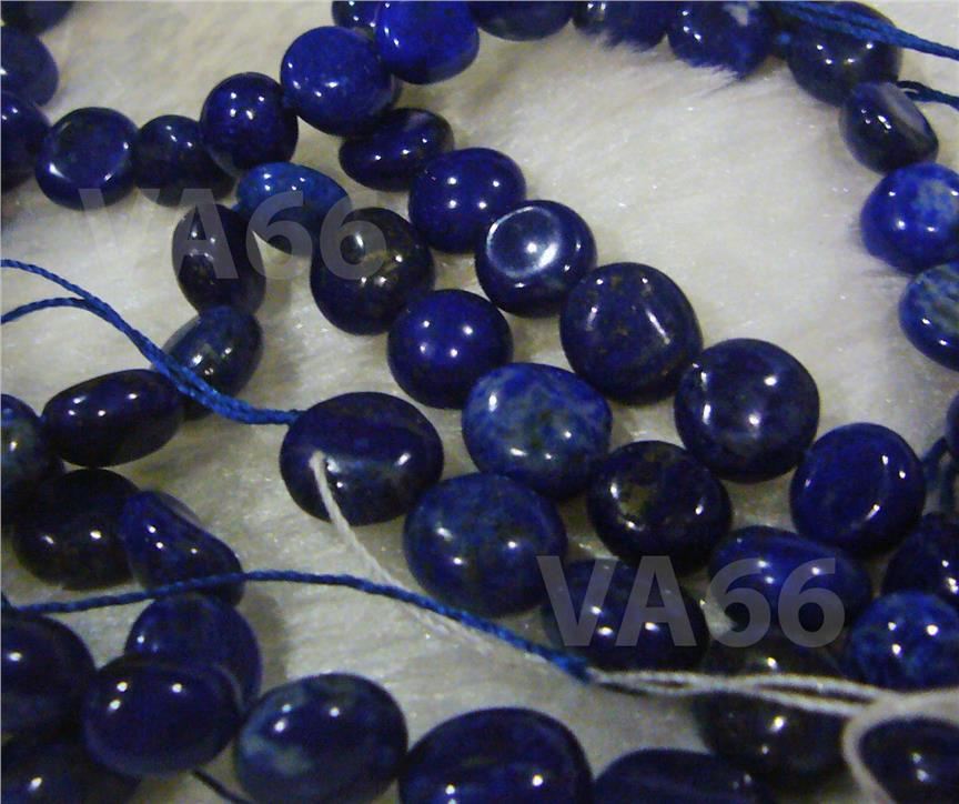 Blue Lapis Lazuli Tumbled Stone Gemstone Round Pebble Button Donut
