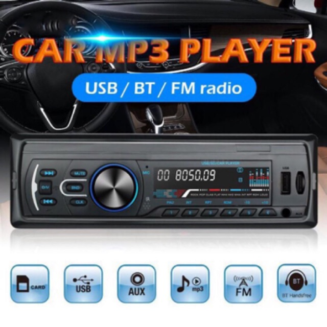 BLUETOOTH Mp3 Player 1 Din Car In-dash Stereo Audio Fm BLUETO - [1106]