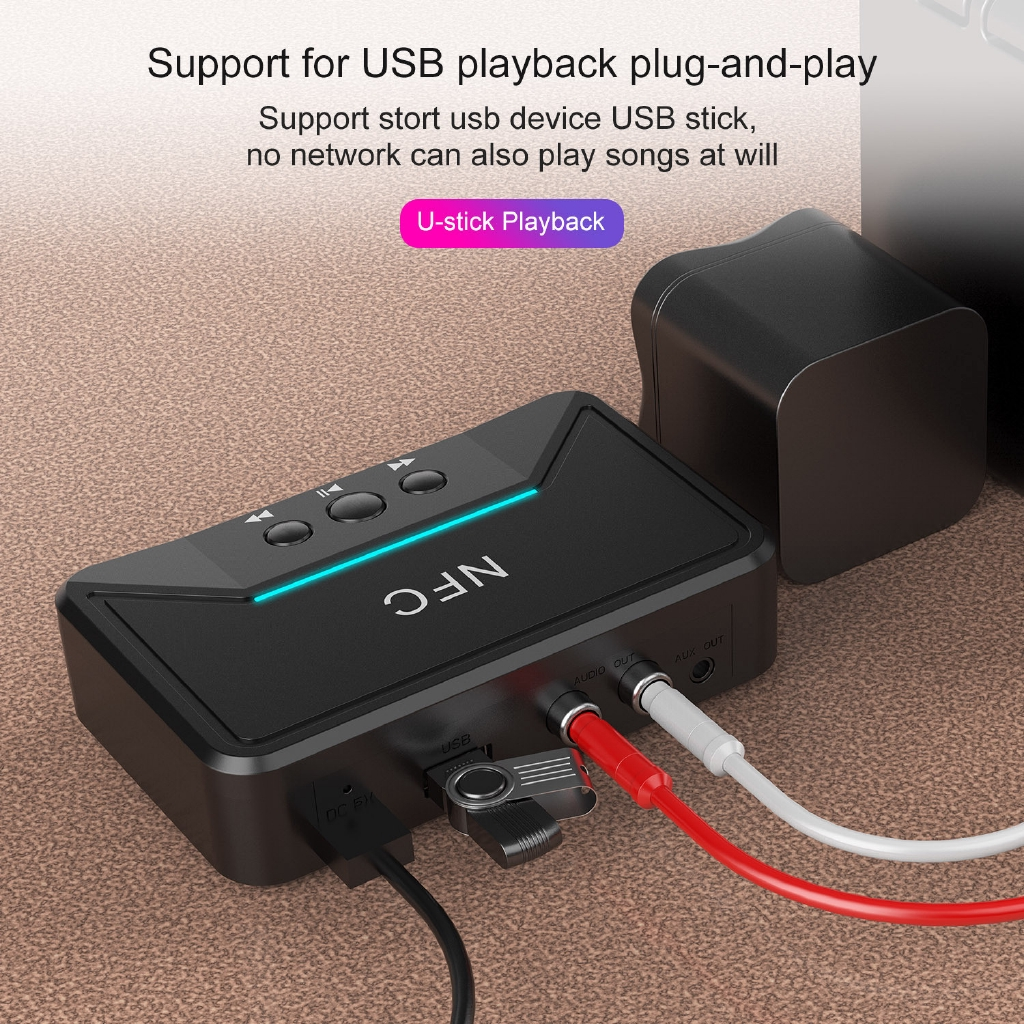 BLUETOOTH Receiver 2rca Output Amplifier Speaker To WIRELESS Stereo Au