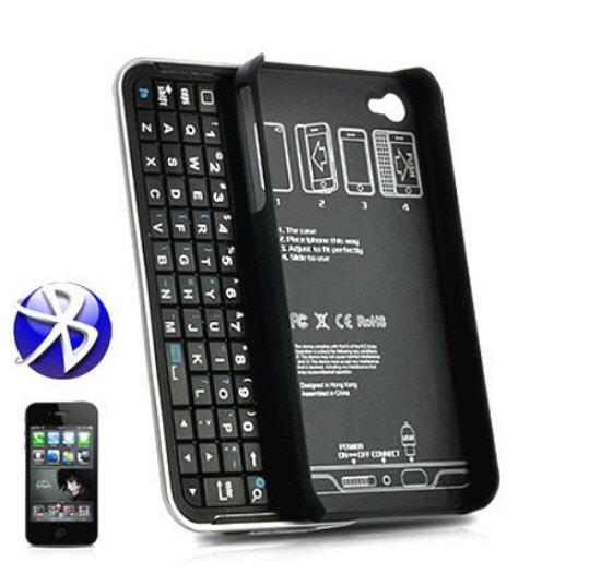 Bluetooth Slider Qwerty Keyboard Case For Iphone 4 (IP-K01).!