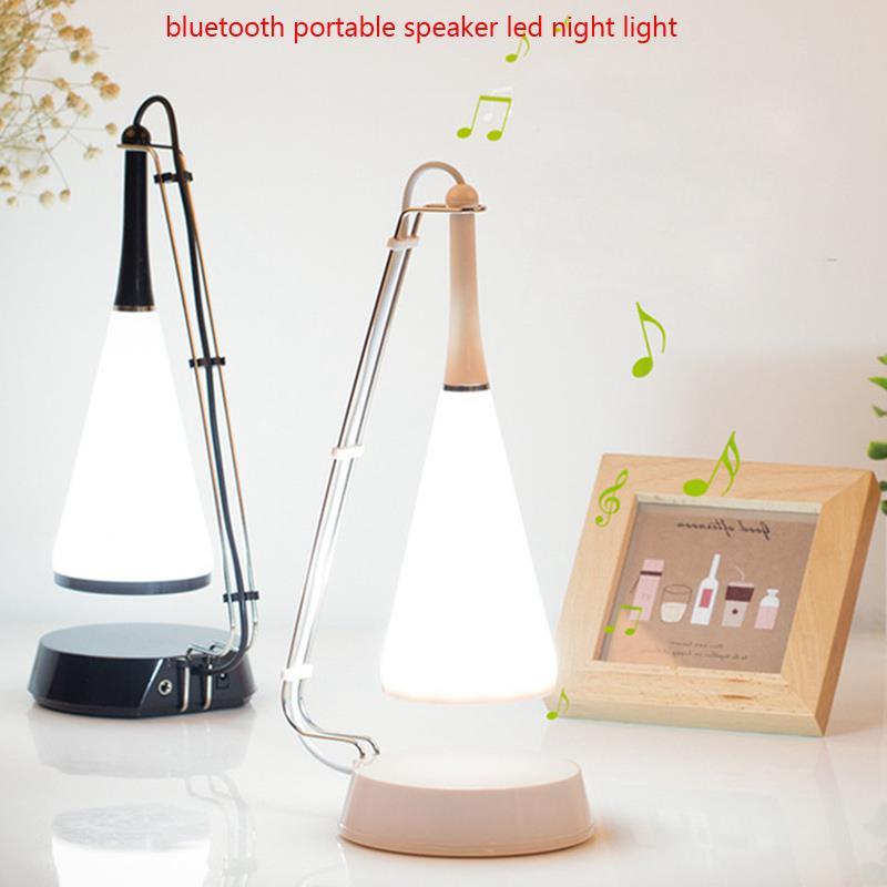 Bluetooth Speaker Led Night Light Home Bedroom Desk Lamp Reading
