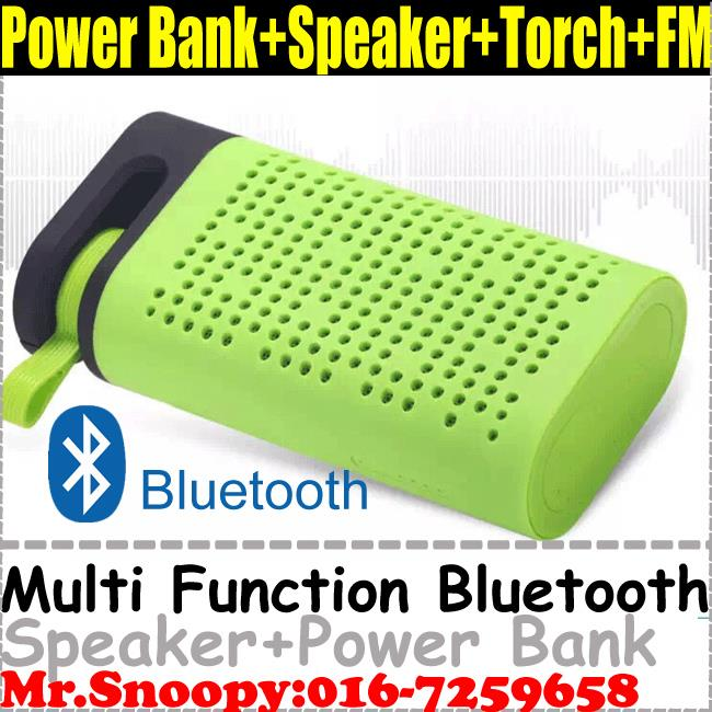 Bluetooth Speaker With Power Bank 4400Mah,FM Radio,Torch Light,TF/USB