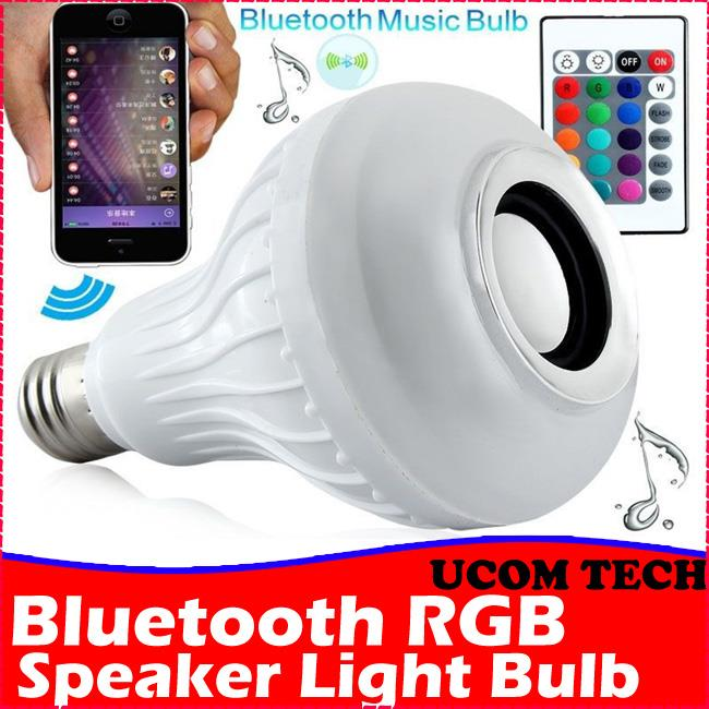 Bluetooth Speaker RGB Colorful Led Light Bulb Remote Control