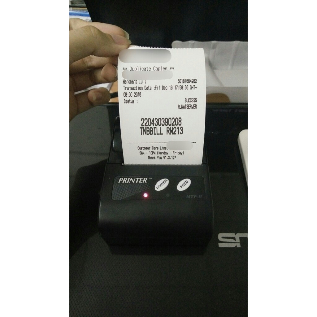 Bluetooth Thermal Receipt Printer SRS Topup Pay Bill 7E SAMSUNG NOKIA
