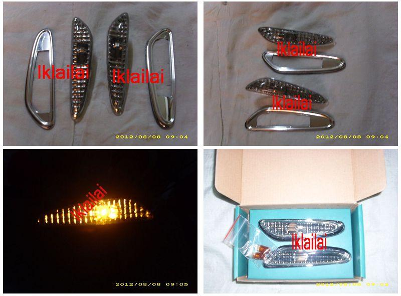BMW 3 Series E46 `02 4D Side Lamp Crystal Smoke W/ Rim [BM02-SL06-U]