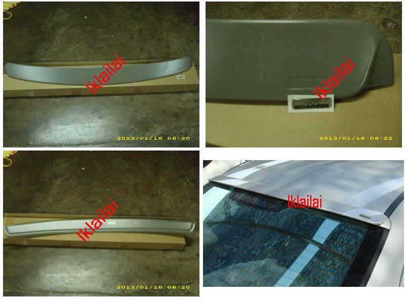 BMW 3 Series E46 `98-04 2D Rear Roof Spoiler ABS with Sticker [BM02-SR