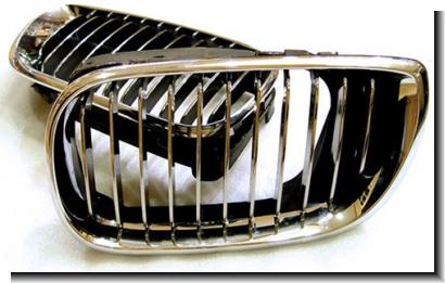 BMW 3 Series E46 `98-`04 4D `98 Front Grille Chrome [BM02--FG02-U]