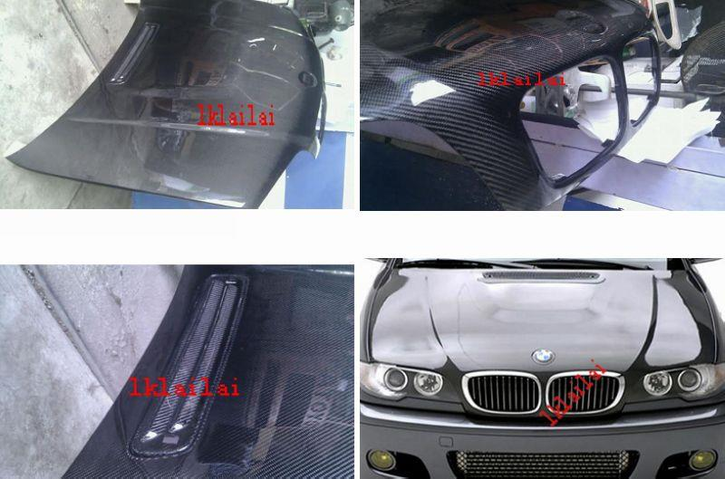 BMW 3 Series E46 `98-04 4D Engine Hood W/ 3D Carbon [BM02-EH03-U]