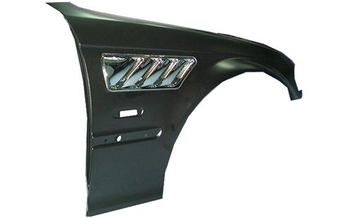 BMW 3 Series E46 `98-04 4D Fender Trim Z3 Look Vent Chrome [Steel]