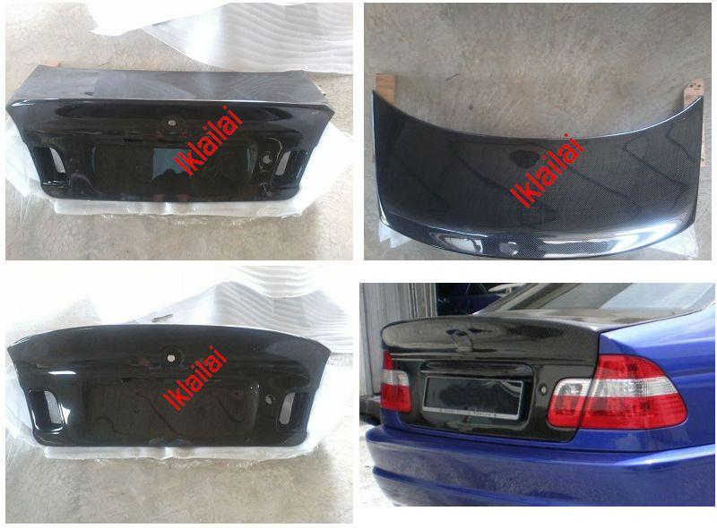 BMW 3 Series E46 `98-04 4D Rear Trunk CSL Style W/Carbon [BM02-SR12-U