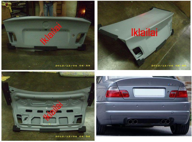 BMW 3 Series E46 `98-04 4D Rear Trunk CSL Style W/FRP [BM02-SR14-U]